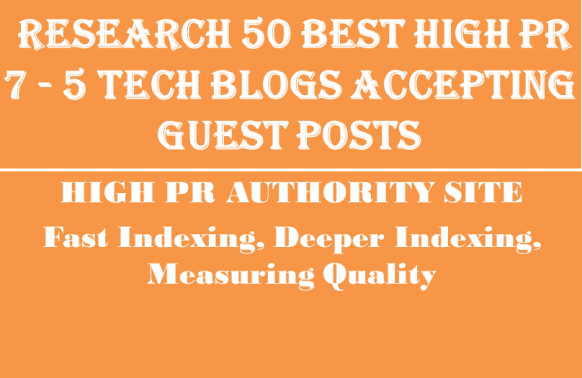 research 50 Best Hpr7 to 5 tech blogs accepting guest posts