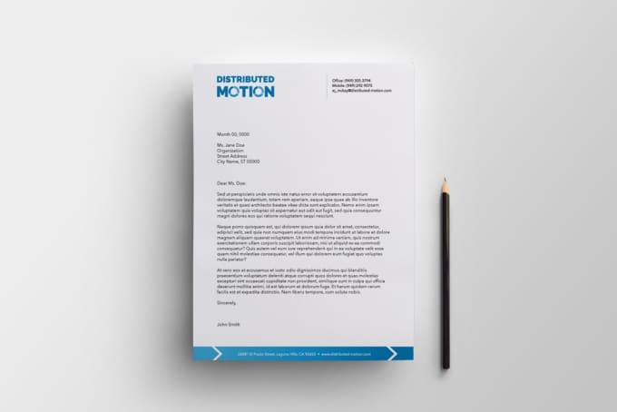 professional letterhead designing fiverr