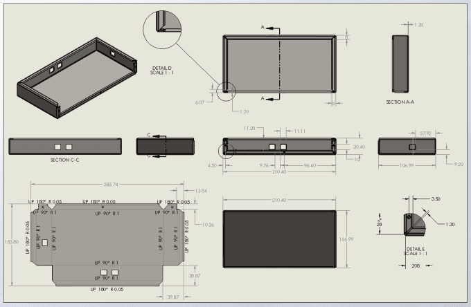 Design Sheet Metal Part In Solidworks And Make Production