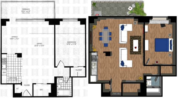 Quickly Draw 3d Model And Render A Floorplan Using Sketchup By