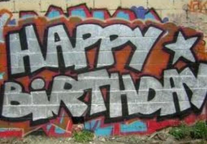 Create You A Graffiti Style Birthday Card By Drawartist