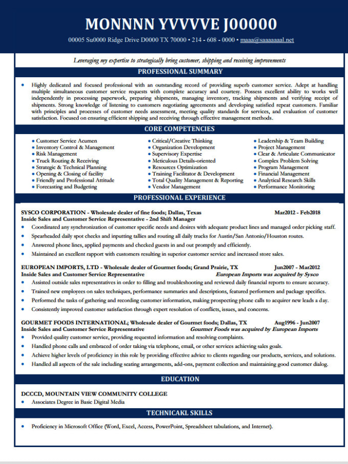 rewrite federal resume  cover letter  and linkedin perfectly by adeseye resume