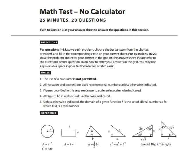send you new SAT test practice