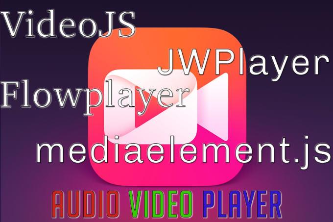 code jwplayer, flowplayer, videojs, mediaelement js
