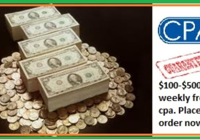 money_making1 : I will disclose Cpa Money making system 100 to 500 Dollars  daily Make Money on Cpa Cash making idea for $5 on www fiverr com