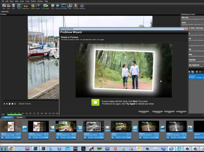 create a proffesional slideshow with music vids and pics