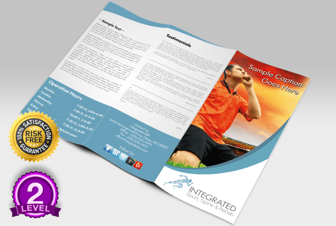 design creative tri fold flyers and brochures