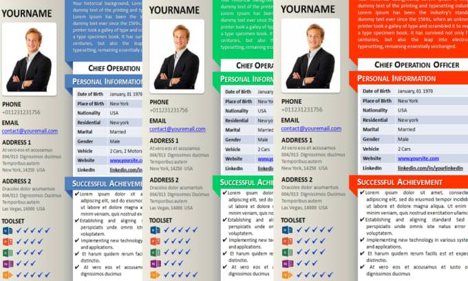 design the best linkedin cv curriculum vitae resume or cover letter