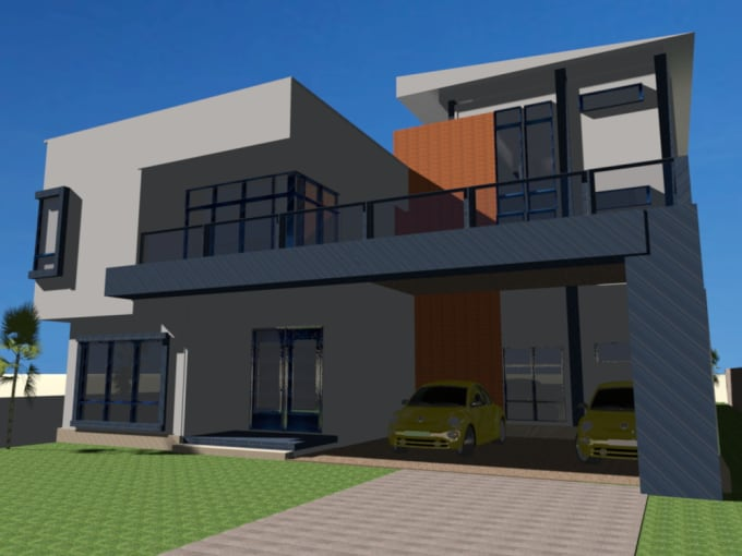 Design sweet 3d graphical house plan for your old model by ...
