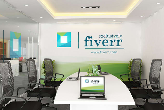 Put your logo to a virtual office wall by Angelwish