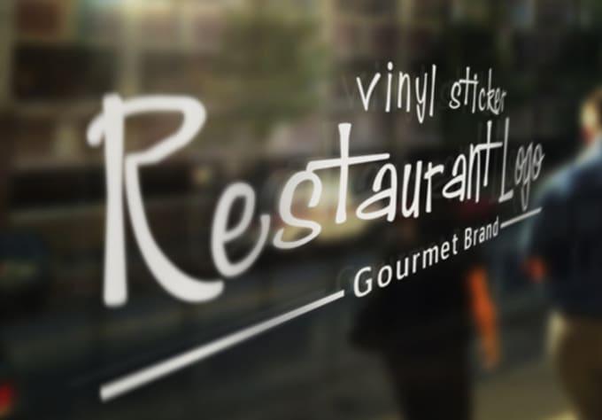 Make a mockup of your logo onto a glass shop window by ...