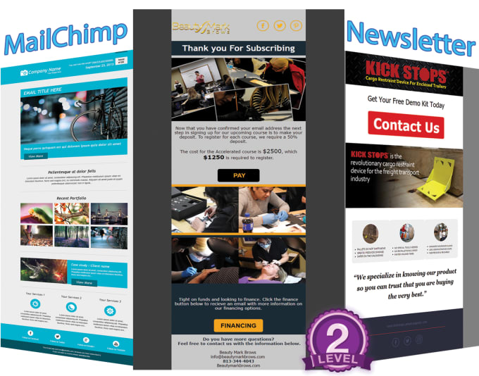 Design Awesome Editable Mailchimp Template By Ahemarketer - Awesome mailchimp templates