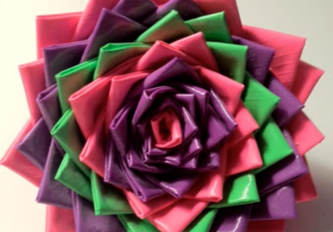 How To Make A Duct Tape Flower Pen The Most Beautiful Flower 2018