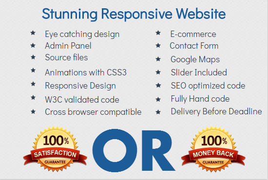 make a stunning responsive website for your business