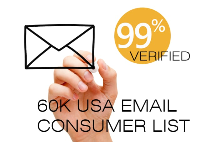 provide you 60k usa consumer email list all verified