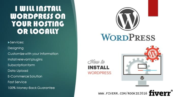install Wordpress on your Hosting or Locally