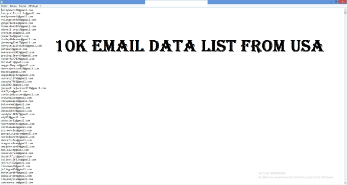 provide a 10k Active email list all from USA,