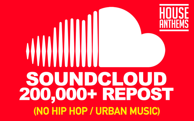 repost your house music track to 200k network on soundcloud