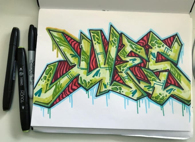 Draw Graffiti For You On Paper By Juliaivancic