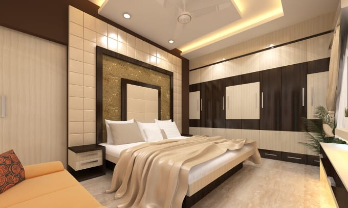 Design 48d Bedroom Interior By Saiarco Stunning 3D Bedroom Design Property