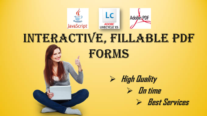 create Interactive fillable PDF forms