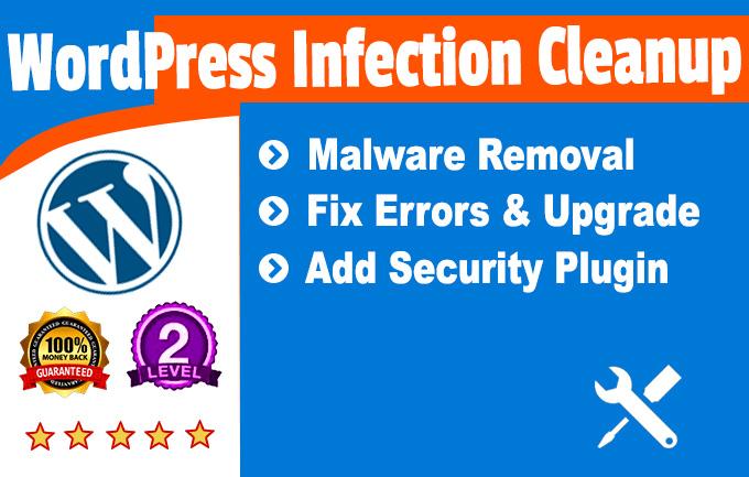 clean malware , remove virus or protect wordpress