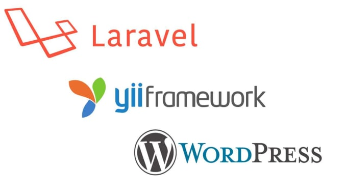 develop websites using laravel, yii framework and wordpress