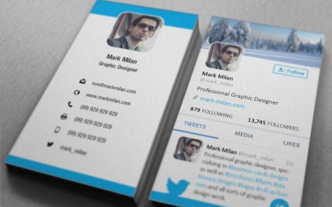 Design Twitter Style Business Card By Shammad