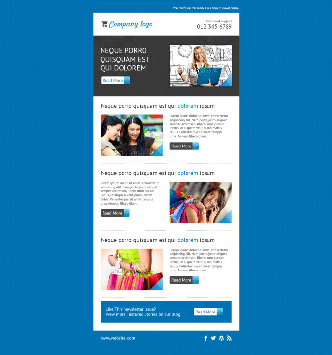 Design A Responsive Mailchimp Template By Mustafizeps - Mailchimp template design