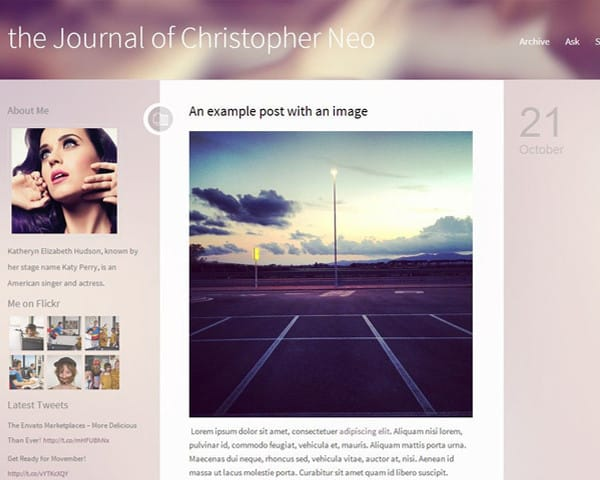 ipixify : I will create or customize a Tumblr blog Theme for $5 on  www fiverr com