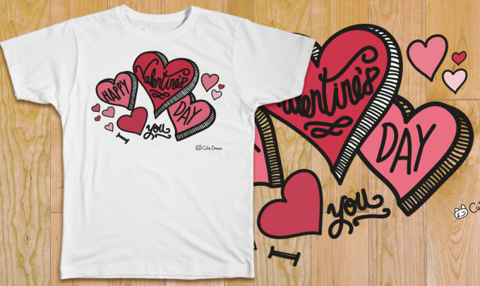 aea995ae5 Create a tshirt design for valentines day by Joebrise