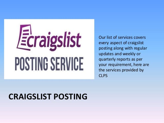How To Place An Ad On Craigslist >> Do Craigslist Ads Posting