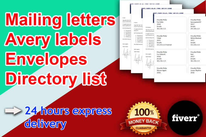 do mail merge letters, avery labels, envelopes or directory