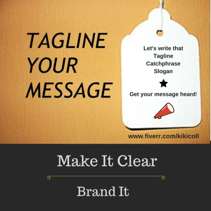 create Three Taglines for your Business