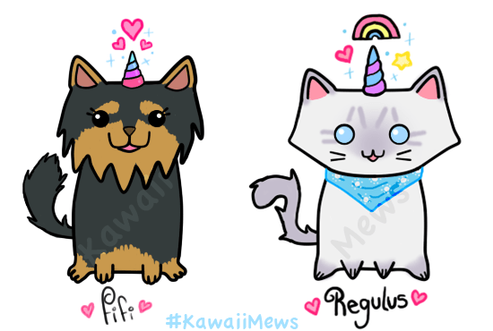 Draw Cats And Dogs As Unicorns Or Mermaids By Kawaiimews
