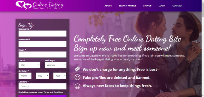 100 charge dating free site