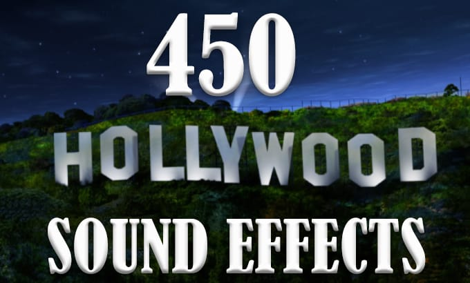 give you 450 hollywood sound effects library