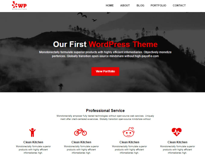 Convert html template to wordpress theme by P4l4s6