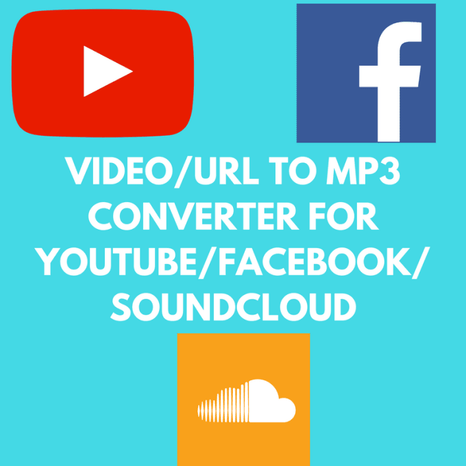 convert 10 Youtube or Facebook or Soundcloud URLs to mp3