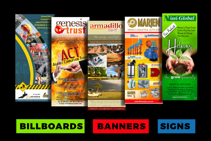 design eyecatching banners signs and billboards by visualdelight