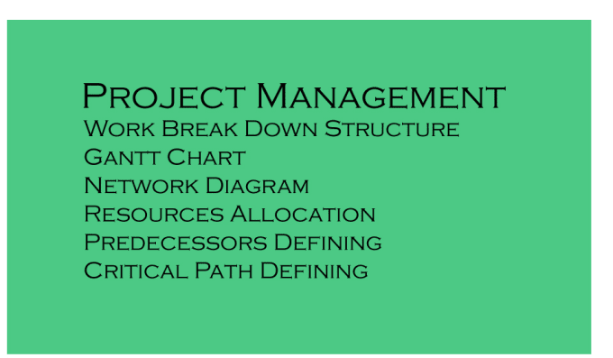 Help In Project Mgmt Wbs Gantt Chart Network Diagram By