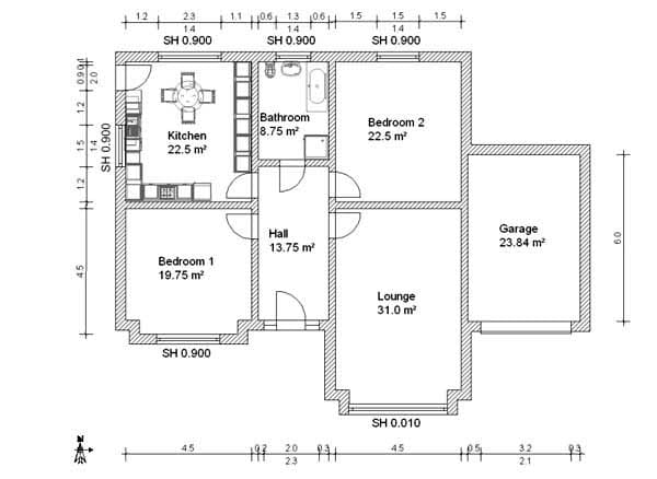 do your architectural floor plan in autocad by delowar dell