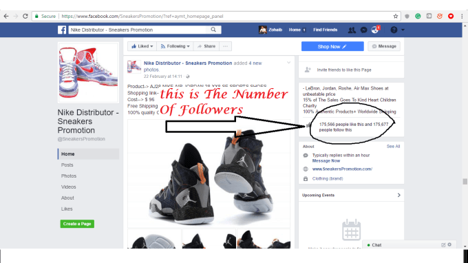 purchase cheap 45771 a9d9e I will promote your business in the largest 176k nike shoes facebook page