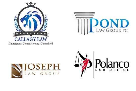 design legal, attorney and lawyer logo