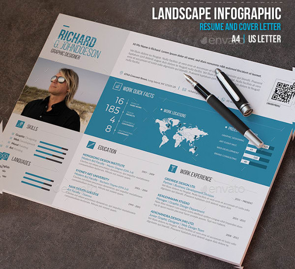 do infographic resume cv design by guru of designs