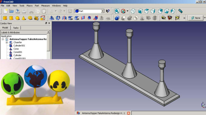 design a simple object for 3D printing in FreeCAD