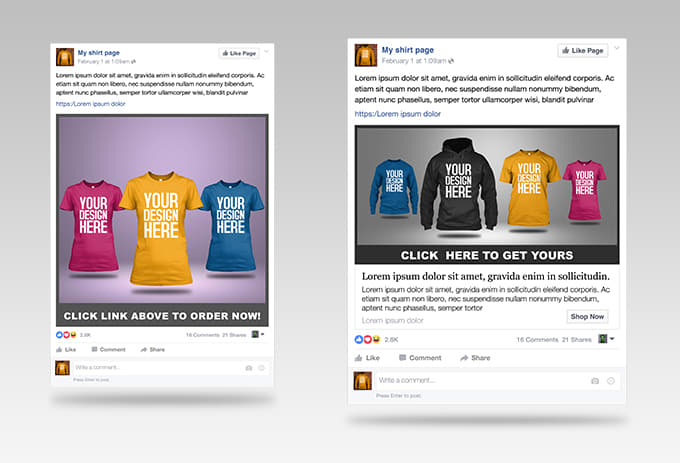 Give You Amazing Tshirt Ad Templates For Facebook Ads By Belabati - Facebook ad template