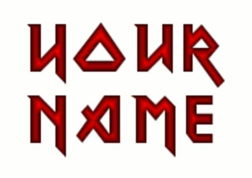 Write Your Name Like Iron Maiden Logo
