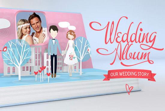 Create Wedding Album Pop Up Story By Thanavee