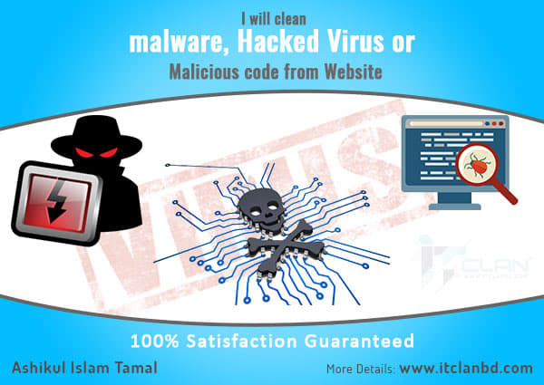 remove malware or virus code and scripts from your website